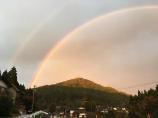 Takanosuyama and rainbow